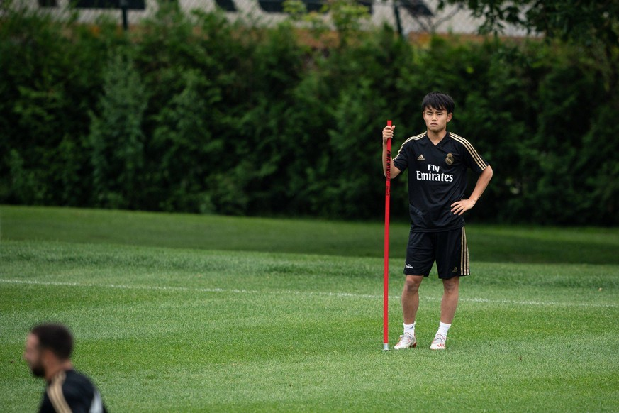 Real Madrid s japanese player Takefusa Kubo participates during a training session at the installations of Montreal Impact, in Montreal, Canada, 16 July 2019. Real Madrid training session Montreal !ACHTUNG: NUR REDAKTIONELLE NUTZUNG! PUBLICATIONxINxGERxSUIxAUTxONLY Copyright: xJohanyxJutrasx AME6763 20190716-636989013420891688