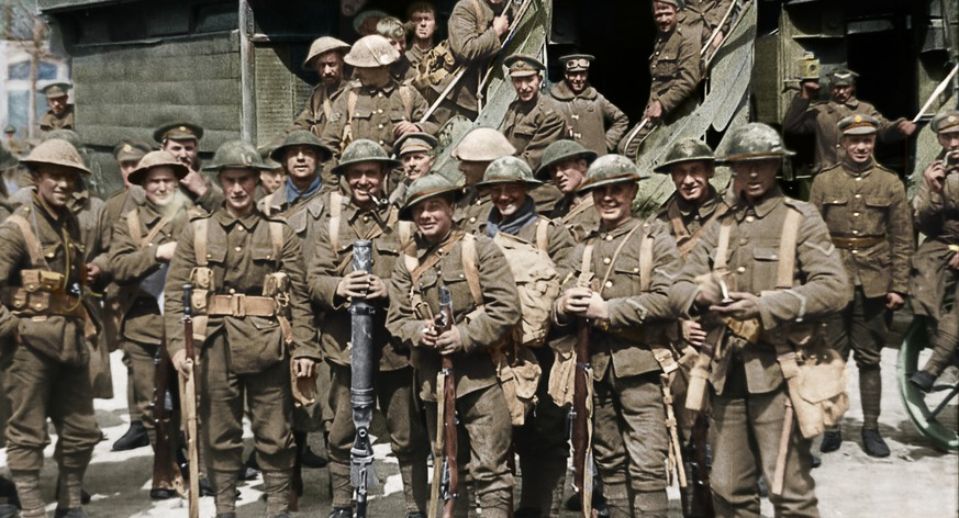 This image released by Warner Bros. Entertainment shows a scene from the WWI documentary