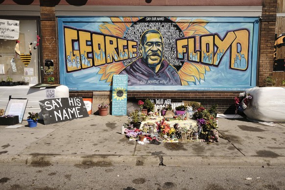 August 15, 2020, Minneapolis, Minnesota, U.S: Part of the George Floyd Memorial in Minneapolis. Floyd, an unarmed Black man, was killed by Minneapolis police officers of May 25 in front of Cup Foods, a convenience store at the intersection of 38th and Chicago Ave. His killing sparked a week of violent protests across the country. The intersection where he was killed is still closed and has become an unofficial memorial visited by hundreds of people every day. Saturday, more than 100 people gathered at the memorial to demand the city preserve the memorial. The city of Minneapolis had planned to start reopening the intersection as soon as Monday Aug. 17, but delayed those plans indefinitely on Friday, Aug. 14. City residents have created a  - ZUMAk94_ 20200815_zaf_k94_012 Copyright: xJackxKurtzx