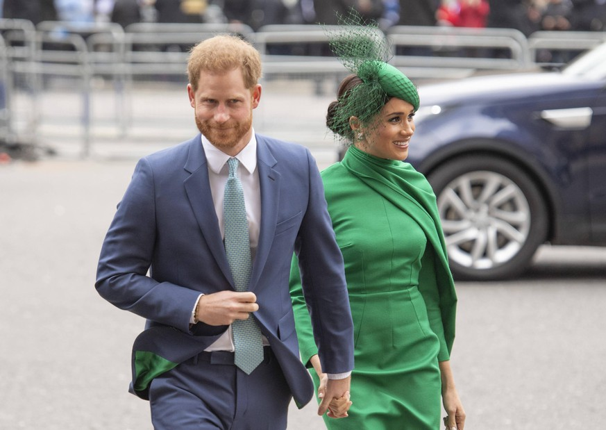 Commonwealth Day 2020 The Duke and Duchess of Sussex arriving at the Commonwealth Day Service at Westminster Abbey on March 09, 2020. PUBLICATIONxINxGERxSUIxAUTxONLY Copyright: xAnwarxHusseinx 51273140