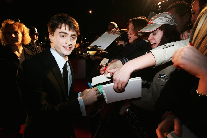 LONDON - FEBRUARY 10:  Actor Daniel Radcliffe arrives at the Orange British Academy Film Awards at the Royal Opera House on February 10, 2008 in London, England.  (Photo by Chris Jackson/Getty Images for Orange)