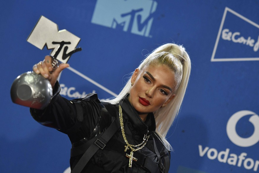 Swiss rapper Loredana poses during the MTV European Music Awards 2019 MTV EMA 2019, held at the FIBES Conference and Exhibition Centre in Seville, Andalusia, Spain, 03 November 2019. MTV EMAs 2019 ACHTUNG: NUR REDAKTIONELLE NUTZUNG PUBLICATIONxINxGERxSUIxAUTxONLY Copyright: xRAULxCAROxCARDENASx GRAF2320 20191104-637084266622552586